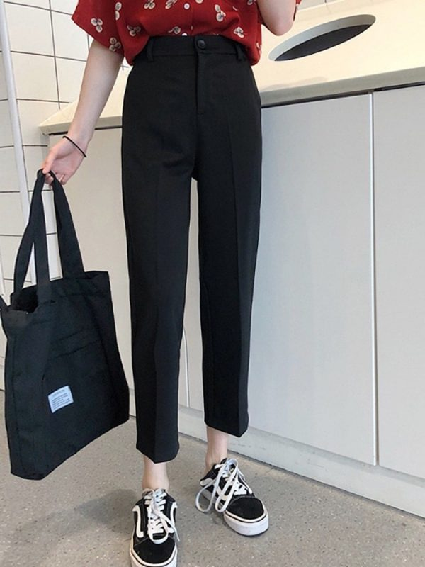 Short Classic Straight Trousers-Pants 1 - My Sweet Outfit - EGirl Outfits - Soft Girl Clothes Aesthetic