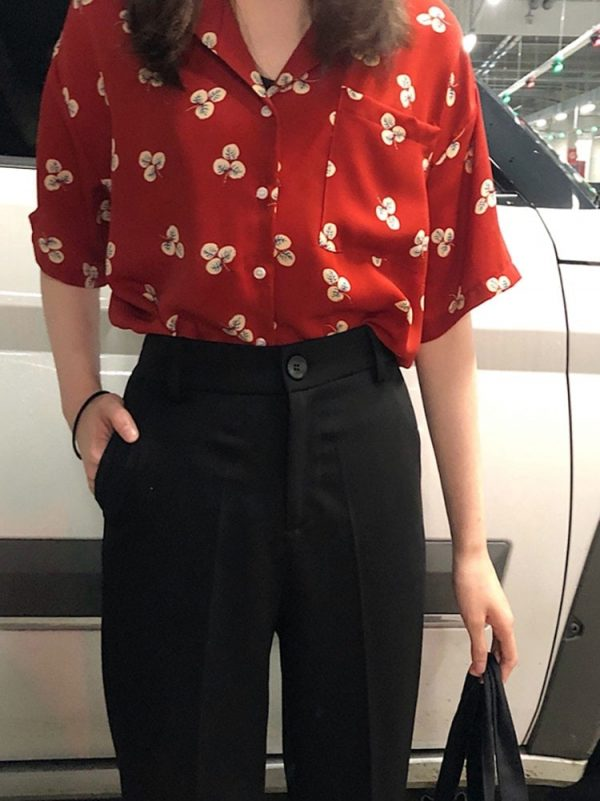Short Classic Straight Trousers-Pants 3 - My Sweet Outfit - EGirl Outfits - Soft Girl Clothes Aesthetic