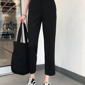 Short Classic Straight Trousers-Pants 5 - My Sweet Outfit - EGirl Outfits - Soft Girl Clothes Aesthetic