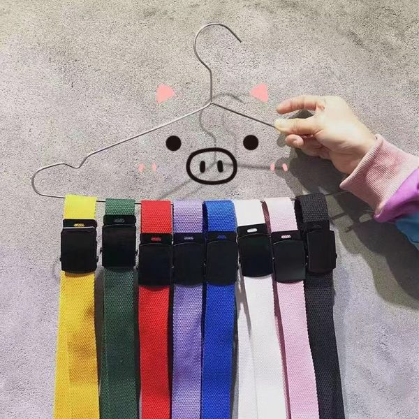 Simple Colorful Canvas Belts 3 - My Sweet Outfit - EGirl Outfits - Soft Girl Clothes Aesthetic - Grunge Fashion Grime Hip Emo Rap Trap