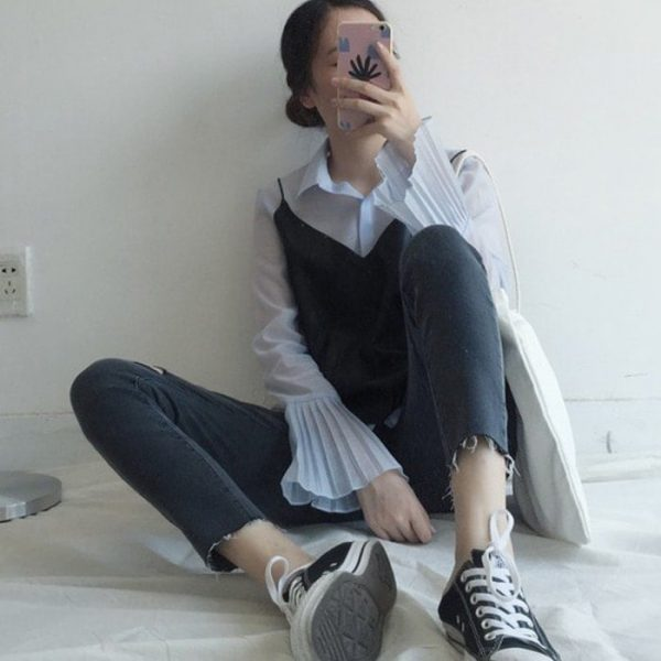 Slim Casual Ripped Jeans 2 - My Sweet Outfit - EGirl Outfits - Soft Girl Clothes Aesthetic