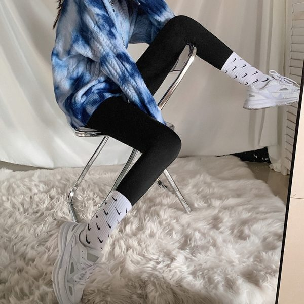 Slim High Waist Stretch Leggings 4 - My Sweet Outfit - EGirl Outfits - Soft Girl Clothes Aesthetic 1