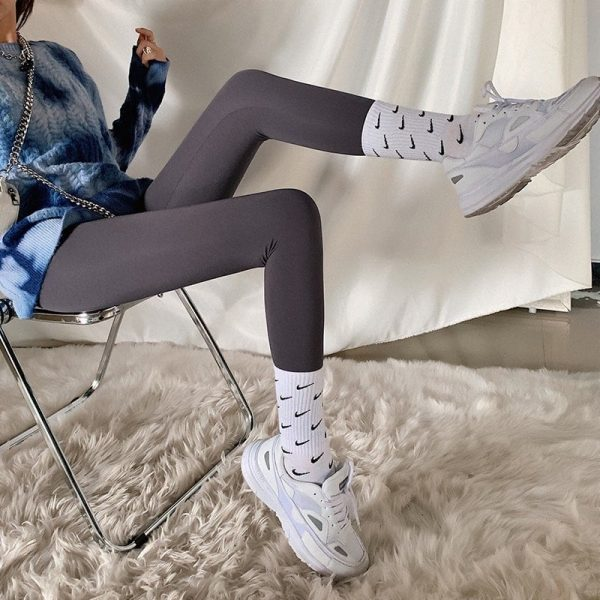 Slim High Waist Stretch Leggings 4 - My Sweet Outfit - EGirl Outfits - Soft Girl Clothes Aesthetic (2)