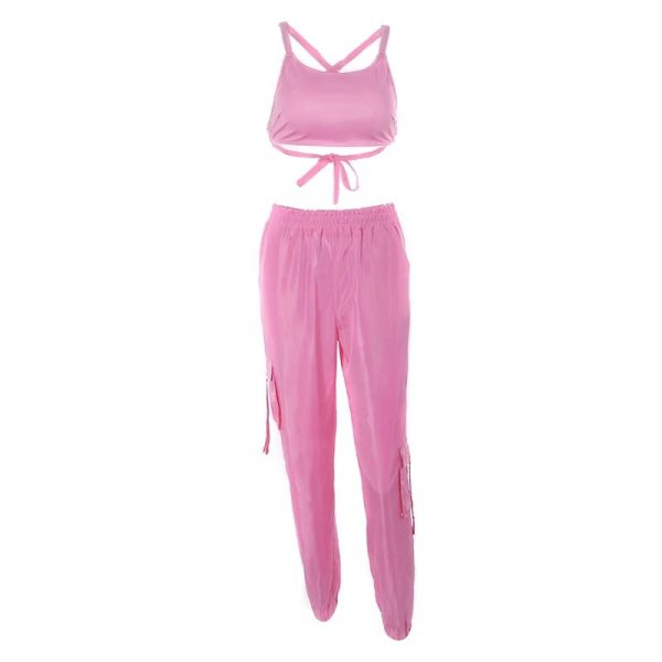 Solid Color Sports Dance Suit 4 - My Sweet Outfit - EGirl Outfits - Soft Girl Clothes Aesthetic