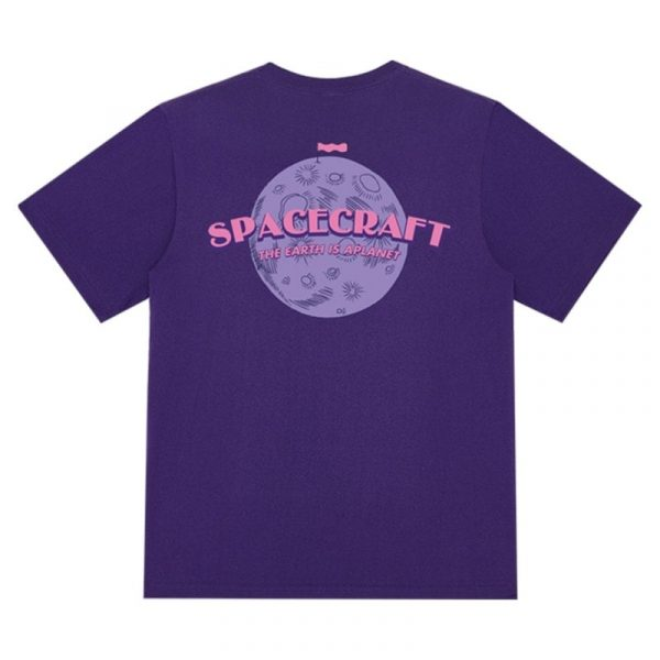Spacecraft Moon Retro T-Shirt 3 - My Sweet Outfit - EGirl Outfits - Soft Girl Clothes Aesthetic - Grunge Fashion Grime Hip Emo Rap Trap