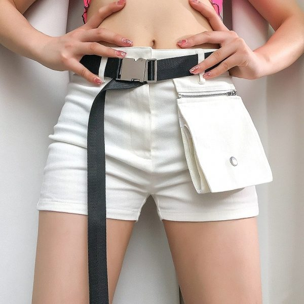 Sports Black Belt With Automatic Buckle 2 - My Sweet Outfit - EGirl Outfits - Soft Girl Clothes Aesthetic - Grunge Fashion Grime Hip Emo Rap Trap