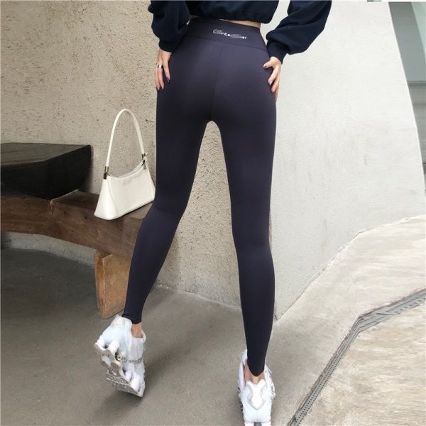 Street Style Skinny Sport Leggings 1 - My Sweet Outfit - EGirl Outfits - Soft Girl Clothes Aesthetic - Grunge Fashion Tumblr Hip Emo Rap Trap