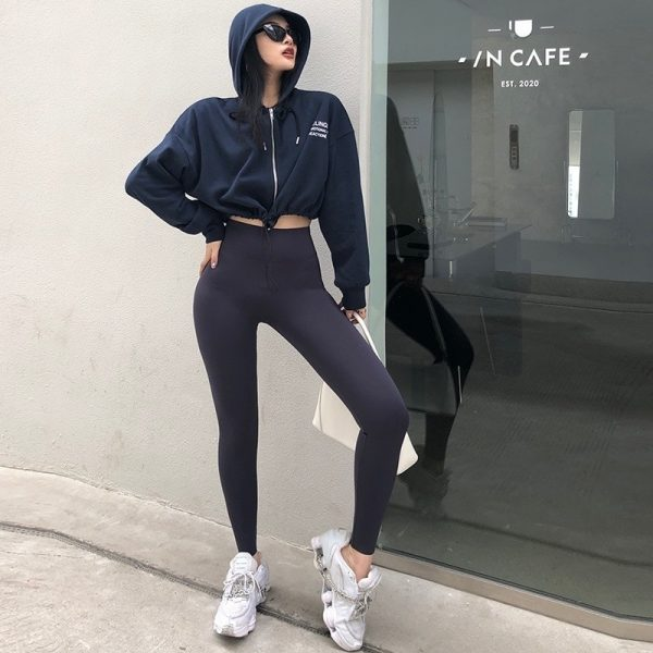 Street Style Skinny Sport Leggings 3 - My Sweet Outfit - EGirl Outfits - Soft Girl Clothes Aesthetic - Grunge Fashion Tumblr Hip Emo Rap Trap