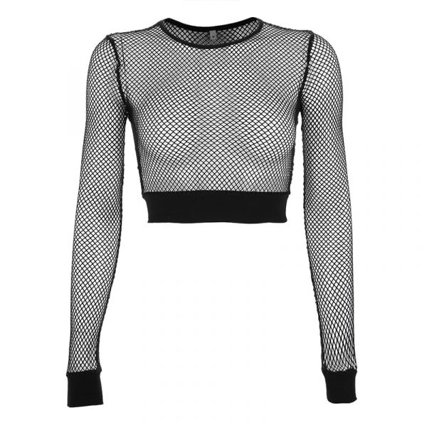 Summer Mesh Long Sleeve Top 4 - My Sweet Outfit - EGirl Outfits - Soft Girl Clothes Aesthetic - Grunge Fashion Grime Hip Emo Rap Trap