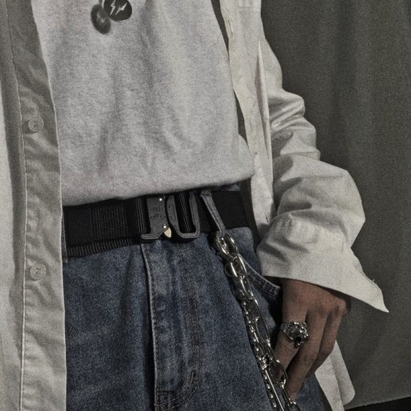 Tactical Military Canvas Belt 1 - My Sweet Outfit - EGirl Outfits - Soft Girl Clothes Aesthetic - Grunge Fashion Grime Hip Emo Rap Trap