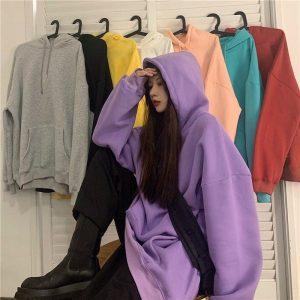 Thick Long Sleeved Plus Size Hoodie 2 - My Sweet Outfit - EGirl Outfits - Soft Girl Clothes Aesthetic - Grunge Fashion Tumblr Hip Emo Rap Trap
