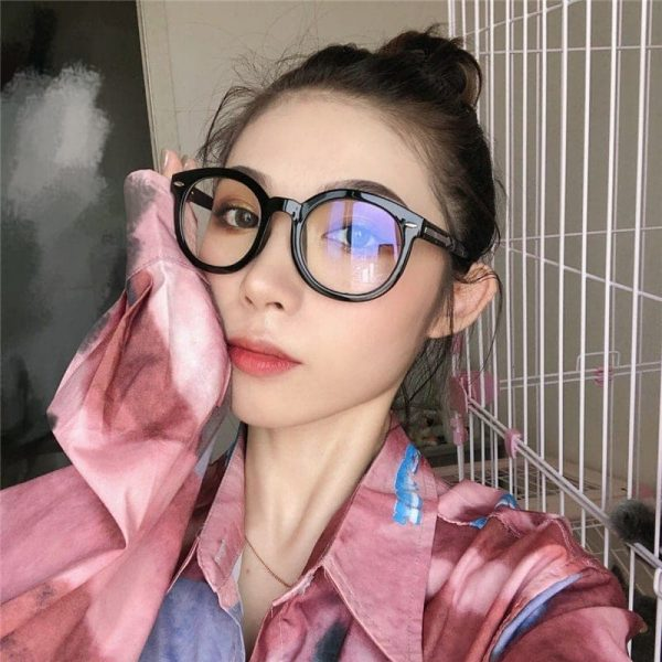 Thick Round Glasses With Clear Lenses 3 - My Sweet Outfit - EGirl Outfits - Soft Girl Clothes Aesthetic - Grunge Fashion Grime Hip Emo Rap Trap