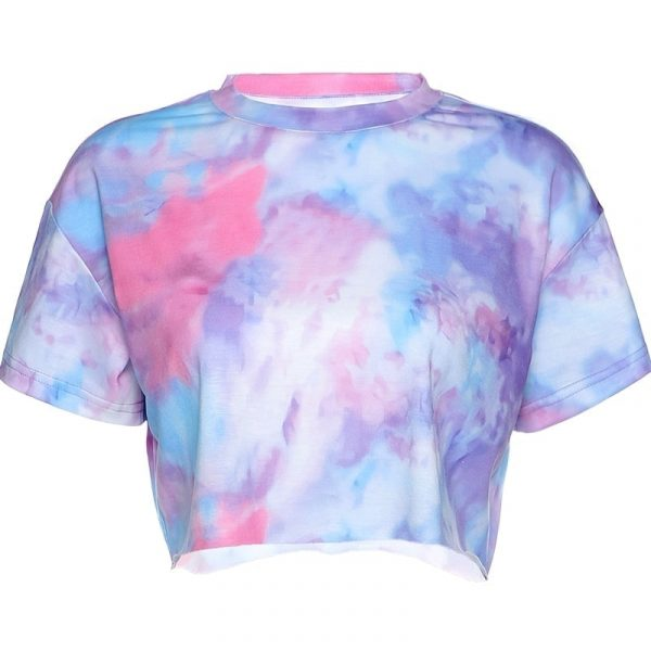 Tie Dye Summer Short Gradient Crop Top 2 - My Sweet Outfit - EGirl Outfits - Soft Girl Clothes Aesthetic - Grunge Fashion Grime Hip Emo Rap Trap