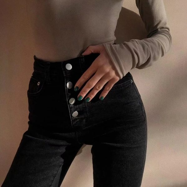Tight Washed Out Buckled Jeans 4 - My Sweet Outfit - EGirl Outfits - Soft Girl Clothes Aesthetic