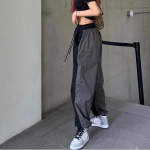 Two Tone Rap Aesthetic Sweatpants 3 - My Sweet Outfit - EGirl Outfits - Soft Girl Clothes Aesthetic - Grunge Fashion Grime Hip Emo Rap Trap