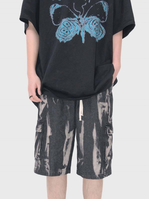 Unisex Frayed Shorts With Pockets 3 - My Sweet Outfit - EGirl Outfits - Soft Girl Clothes Aesthetic