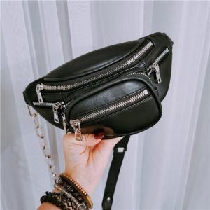 Waist Messenger Bag With Chain 1 - My Sweet Outfit - EGirl Outfits - Soft Girl Clothes Aesthetic