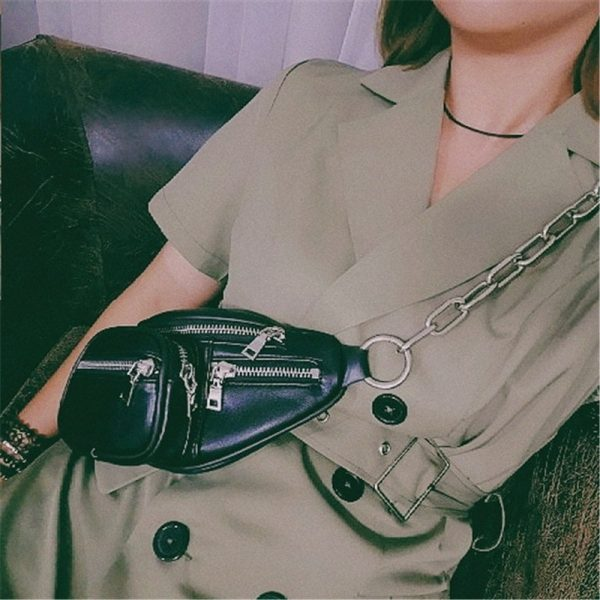 Waist Messenger Bag With Chain 3 - My Sweet Outfit - EGirl Outfits - Soft Girl Clothes Aesthetic