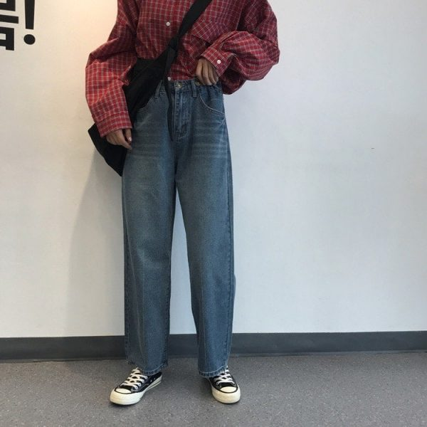 Washed Out Wide Leg Jeans 3 - My Sweet Outfit - EGirl Outfits - Soft Girl Clothes Aesthetic - Grunge Fashion Tumblr Hip Emo Rap Trap