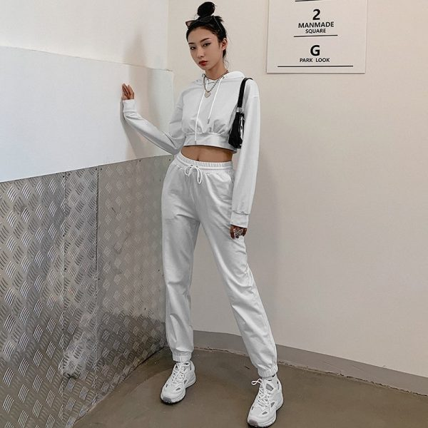 White Slim Fitness Sport Suit 4 - My Sweet Outfit - EGirl Outfits - Soft Girl Clothes Aesthetic