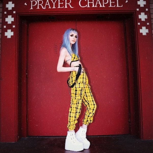 Yellow High Waist Plaid Suspenders Pants 3 - My Sweet Outfit - EGirl Outfits - Soft Girl Clothes Aesthetic - Grunge Fashion Grime Hip Emo Rap Trap