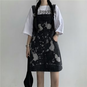 Сolor Spotted Jumpsuit With Chest Pocket (2) - My Sweet Outfit - EGirl Outfits - Soft Girl Clothes Aesthetic - Grunge Korean Fashion Tumblr Hip Emo Rap