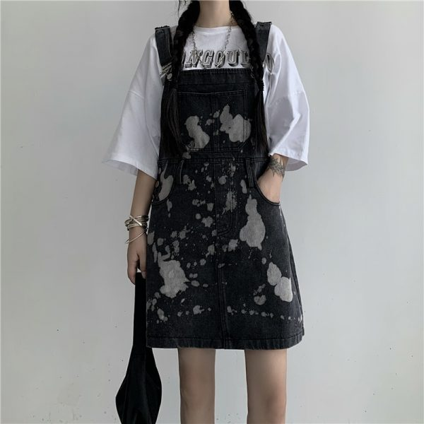 Сolor Spotted Jumpsuit With Chest Pocket 2 - My Sweet Outfit - EGirl Outfits - Soft Girl Clothes Aesthetic - Grunge Korean Fashion Tumblr Hip Emo Rap