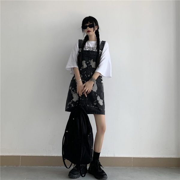 Сolor Spotted Jumpsuit With Chest Pocket 4 - My Sweet Outfit - EGirl Outfits - Soft Girl Clothes Aesthetic - Grunge Korean Fashion Tumblr Hip Emo Rap