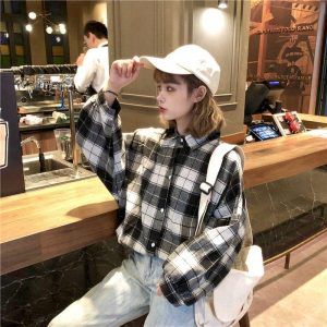 Country Oversized Long Sleeve Shirt 4 - My Sweet Outfit - EGirl Outfits - Soft Girl Clothes Aesthetic - Grunge Korean Fashion Tumblr Hip Emo Rap