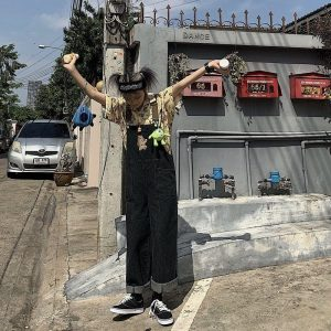 Funny Bear Embroidery Loose Romper (2) - My Sweet Outfit - EGirl Outfits - Soft Girl Clothes Aesthetic - Grunge Korean Fashion Tumblr Hip Emo Rap