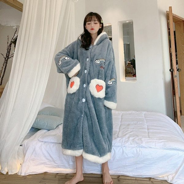 Plush Rainbow Embroidered Pajamas 2 - My Sweet Outfit - EGirl Outfits - Soft Girl Clothes Aesthetic - Grunge Korean Fashion Tumblr Hip Emo Rap