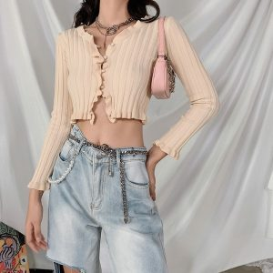 Retro Ripped Denim Wide Leg Jeans 2 - My Sweet Outfit - EGirl Outfits - Soft Girl Clothes Aesthetic - Grunge Korean Fashion Tumblr Hip Emo Rap Trap