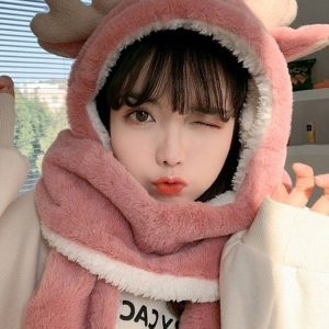 Сute And Warm Hat-Hood Deer (4) - My Sweet Outfit - EGirl Outfits - Soft Girl Clothes Aesthetic - Grunge Korean Fashion Tumblr Hip Emo Rap