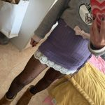 Side-Tie Striped Skirt With Lace photo review