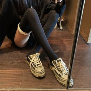 Lace Warm High Socks (1) - My Sweet Outfit - EGirl Outfits - Soft Girl Clothes Aesthetic - Grunge Korean Fashion Tumblr Hip Emo Rap