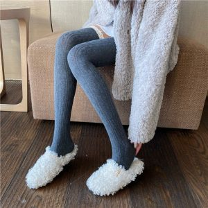Lace Warm High Socks (5) - My Sweet Outfit - EGirl Outfits - Soft Girl Clothes Aesthetic - Grunge Korean Fashion Tumblr Hip Emo Rap