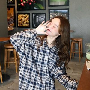 Long Sleeve Mid Plaid Casual Shirt (3) - My Sweet Outfit - EGirl Outfits - Soft Girl Clothes Aesthetic - Grunge Korean Fashion Tumblr Hip Emo Rap