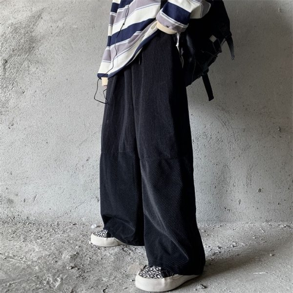 Velvet Straight Wide Leg Winter Trousers (1) - My Sweet Outfit - EGirl Outfits - Soft Girl Clothes Aesthetic - Grunge Korean Fashion Tumblr Hip Emo Rap