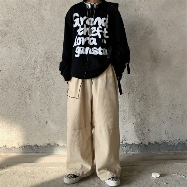 Velvet Straight Wide Leg Winter Trousers (4) - My Sweet Outfit - EGirl Outfits - Soft Girl Clothes Aesthetic - Grunge Korean Fashion Tumblr Hip Emo Rap