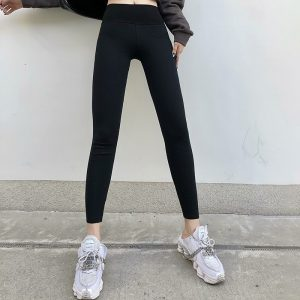 Basic Skinny High Rise Leggings (1) - My Sweet Outfit - EGirl Outfits - Soft Girl Clothes Aesthetic - Grunge Korean Fashion Hip Emo Rap