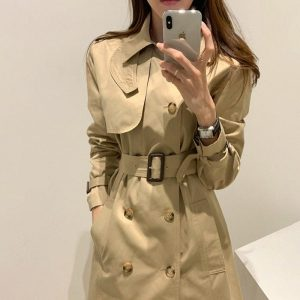 British Double Breasted Trench Coat (2) - My Sweet Outfit - EGirl Outfits - Soft Girl Clothes Aesthetic - Grunge Korean Fashion Hip Emo Rap