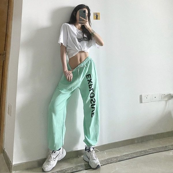 All Match High Waist Explosive Pants - My Sweet Outfit - eGirl Outfits - Soft Girl Clothes Aesthetic - Grunge Korean Artsy - Cosplay - Anime - Fashion itGirl - Rap Accessories 2