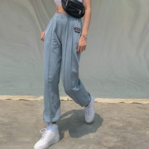 High-waisted eGirl Trousers - My Sweet Outfit - eGirl Outfits - Soft Girl Clothes Aesthetic - Grunge Korean Artsy - Cosplay - Anime - Fashion itGirl - Rap Accessories (3)
