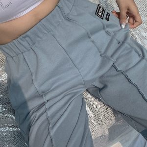 High-waisted eGirl Trousers - My Sweet Outfit - eGirl Outfits - Soft Girl Clothes Aesthetic - Grunge Korean Artsy - Cosplay - Anime - Fashion itGirl - Rap Accessories (4)