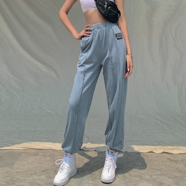High-waisted eGirl Trousers - My Sweet Outfit - eGirl Outfits - Soft Girl Clothes Aesthetic - Grunge Korean Artsy - Cosplay - Anime - Fashion itGirl - Rap Accessories 5