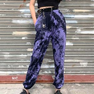 Indie Kid Tie-Dye Jogger Pants - My Sweet Outfit - EGirl Outfits - Soft Girl Clothes Aesthetic - Grunge Korean Fashion Hip Emo Rap (1)