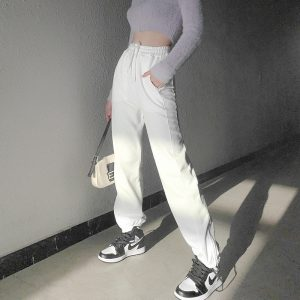Lace-up Street ItGirl Sweatpants - My Sweet Outfit - eGirl Outfits - Soft Girl Clothes Aesthetic - Grunge Korean Artsy - Cosplay - Anime - Fashion itGirl - Rap Accessories (1)