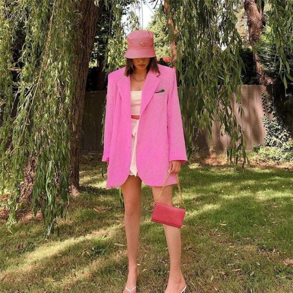 Long Oversized Eighties Style Blazer - My Sweet Outfit - eGirl Outfits - Soft Girl Clothes Aesthetic - Grunge Korean Artsy - Cosplay -Anime - Fashion Hip Emo Rap Accessories 1