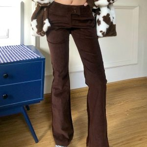 Stretched Flared Retro Pants - My Sweet Outfit - EGirl Outfits - Soft Girl Clothes Aesthetic - Grunge Korean Fashion Hip Emo Rap (3)