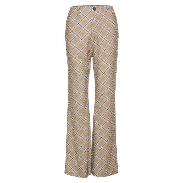 Vintage High Rise ItGirl Check Trousers - My Sweet Outfit - eGirl Outfits - Soft Girl Clothes Aesthetic - Grunge Korean Artsy - Cosplay - Anime - Fashion itGirl - Rap Accessories 92
